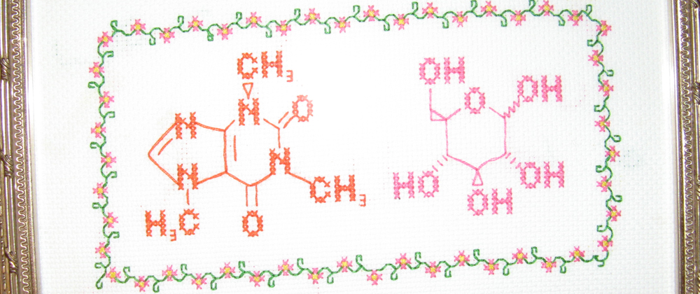 Cross-stitch of molocules